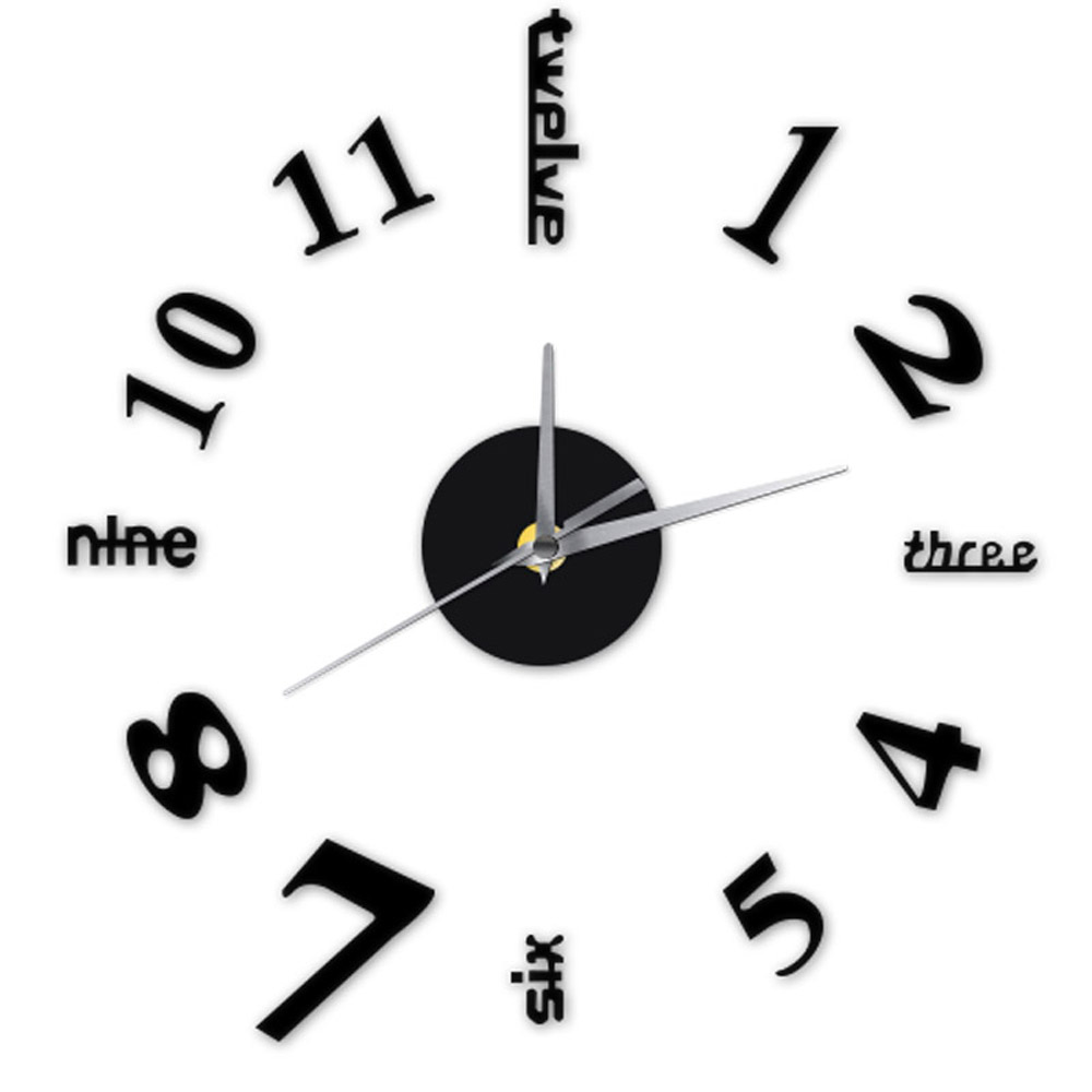 English Letters Numbers DIY Clock Self Adhesive Decal ...