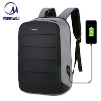 Business Mens USB Charing 15.6 Inch Laptop Backpacks Waterproof Anti theft Male Travel Mochila Black Smart Back Pack Bags