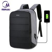 Business Mens USB Charing 15.6 Inch Laptop Backpacks Waterproof Anti theft Male Travel Mochila Black Smart Back Pack Bags