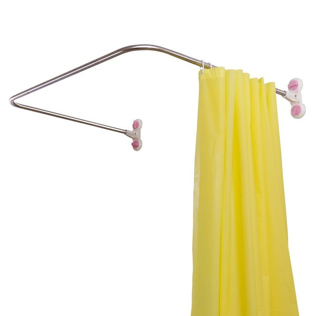 Curved Corner Shower Curtain Rod U Shaped Bathroom Bath Rail Pole Track 38 5