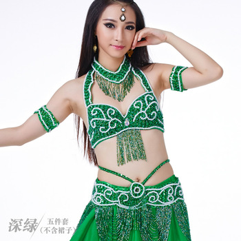 Belly Dancing Clothes Women Belly Dance costumes for belly dance Performance bra+belt+necklace+2Bracelet