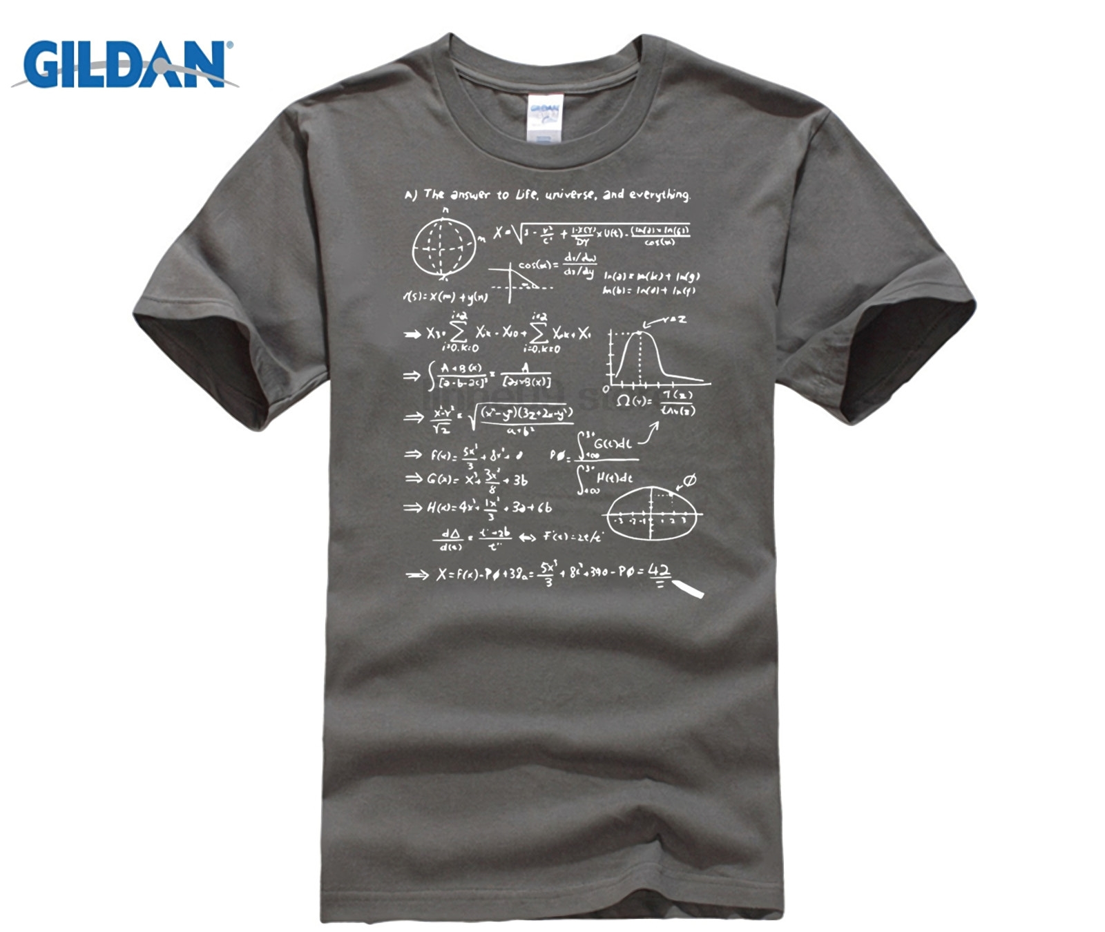 US $9 71 19% OFF|GILDAN Men T shirt The Hitchhiker's Guide To The Galaxy 42  The Answer To Life Universe & Everything O Neck Cotton T shirts-in