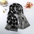 Bufanda caliente De la Mujer de Algodón Mezclas Suaves Niñas Chal de Doble Cara Grande diseño Geométrico decorativo Size191 * 31 cm Damas bufanda