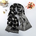Warm Scarves For Women Cotton Blends Soft Girls Shawl Double Side Large Geometric decorative design Size191*31cm Ladies Scarf