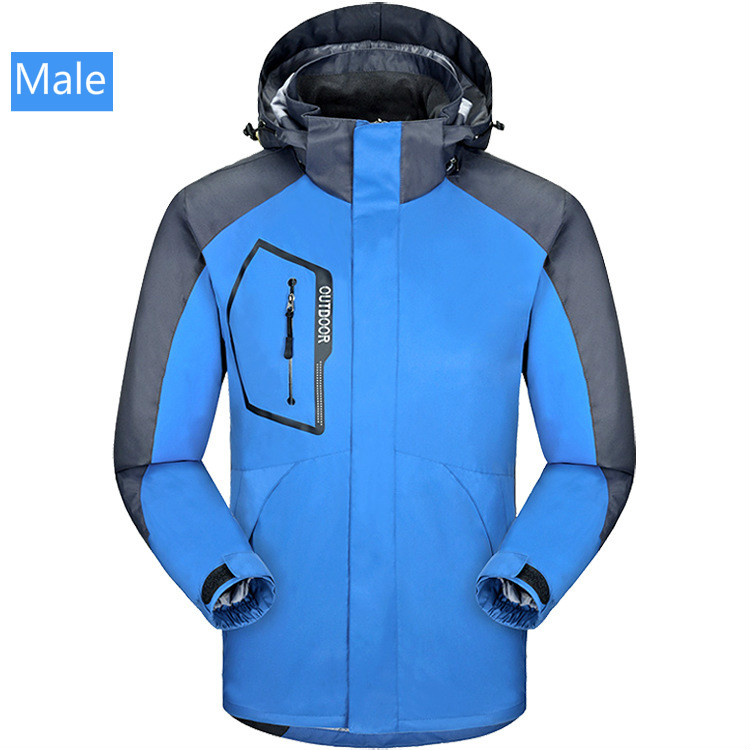 Mens and womens mountaineering wear autumn winter two sets of breathable lovers ski wear windproof waterproof assault jacketMens and womens mountaineering wear autumn winter two sets of breathable lovers ski wear windproof waterproof assault jacket