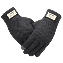 Męskie rękawiczki z dzianiny zimowy ekran dotykowy wysokiej jakości męski zagęścić ciepła wełna kaszmirowe gładkie rękawiczki męskie rękawica jesienna biznesowa tanie tanio cynewz Akrylowe Dla dorosłych Stałe Nadgarstek Moda 3#GD014 Winter gloves Touch Screen