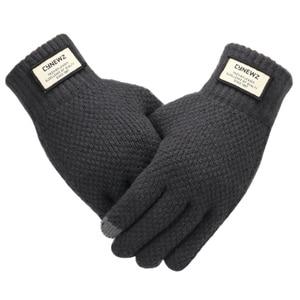 Men Knitted Gloves Winter Touc