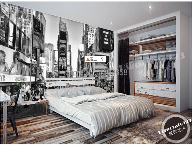 Custom 3D stereo wallpaper, classic black and white series buildings murals, the television background wall Papel DE parede free shipping custom 3d mural retro european buildings in paris coffee hall the television background wall wallpaper