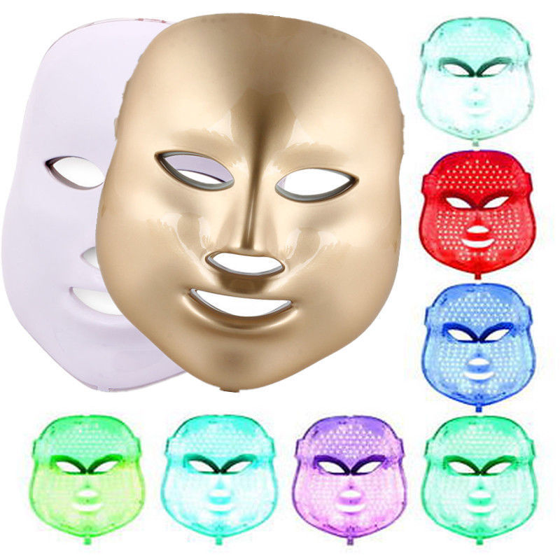 NEW 7 Colors Light Photon LED Facial Mask Skin Rejuvenation Care Rejuvenation Beauty photon tender Therapy ckeyin ultrasound facial skin care led light photon rejuvenation cleaner therapy device beauty massage acne wrinkles machine