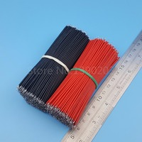1000Pcs 10cm 26AWG Red Black Double End Tinned PCB Solder Electronic Wire Jumper Connector