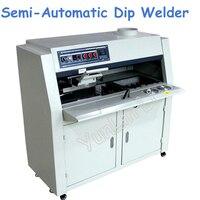 220V Semi Automatic Dip Welder Lead Free Flux Spray PCB Circuit Board Dip Tin Furnace ZB3525DG