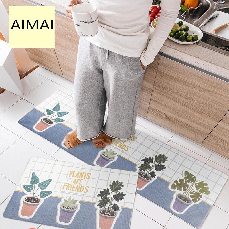 Non-Slip Kitchen Rug and Carpet Super Soft PVC Leather Rubber Backing Non-slip Home Decorator Floor Mats for Hallway/EntrywayNon-Slip Kitchen Rug and Carpet Super Soft PVC Leather Rubber Backing Non-slip Home Decorator Floor Mats for Hallway/Entryway