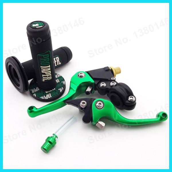 Зеленый CNC складные тормозные рычаги сцепления+ ручные ручки+ крышка бака клапан вентиляции шланг сапуна для ямы грязи велосипед мотоцикл мотокросс