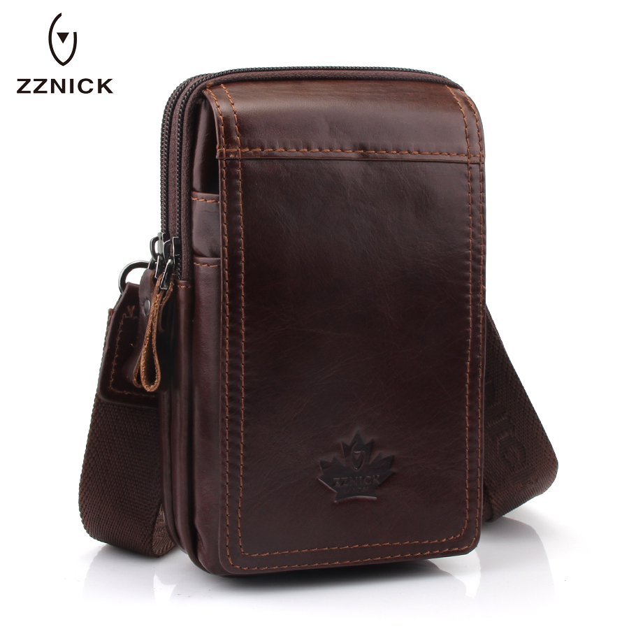 ZZNICK 2020 NEW MEN'S Genuine Leather Belt Waist Bag Military Fanny PACK Molle Small Money Phone Waist Pack Bum Pouch Purse