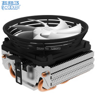 Retail Box 10cm Fan 2 Heatpipe Fin Down Blown Intel LGA775 1155 1156 AMD AM2 AM3