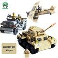 Военный Набор 873 шт. Строительные Блоки Танк Panzer Army Jeep F-1 Camel Истребитель Кирпичи Совместимые с lego Модели и Строительство игрушки