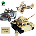 Military Set 873pcs Building Blocks Tank Panzer Army Jeep F-1 Camel Fighter Bricks Compatible with lego Models & Building Toys