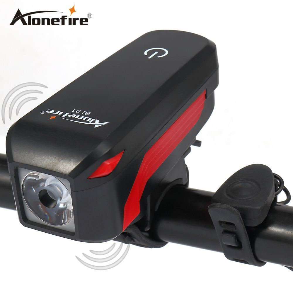 AloneFire Bike Light Head LED bike Flashlight and Bell Luces Cycle Lamp Outdoor MTB Road Cycling Headlight Speaker Bicycle light