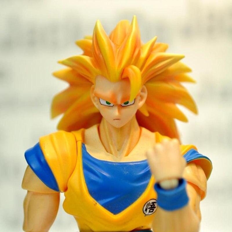 Livraison gratuite Jacksdo SHF Dragon Ball Super Saiyan III 3 fils Goku tête pour Bandai Datong modèles