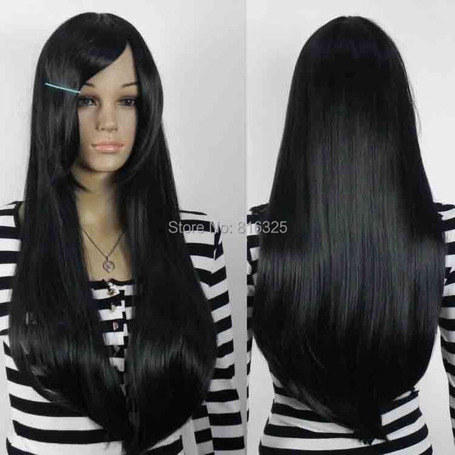 Wholesale Price Festival Vogue Wig Black Long Straight Women