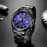 2019 Geneva moda Simple reloj de hombre correa de acero inoxidable negocio de alta calidad para hombre reloj de pulsera reloj de cuarzo hombre
