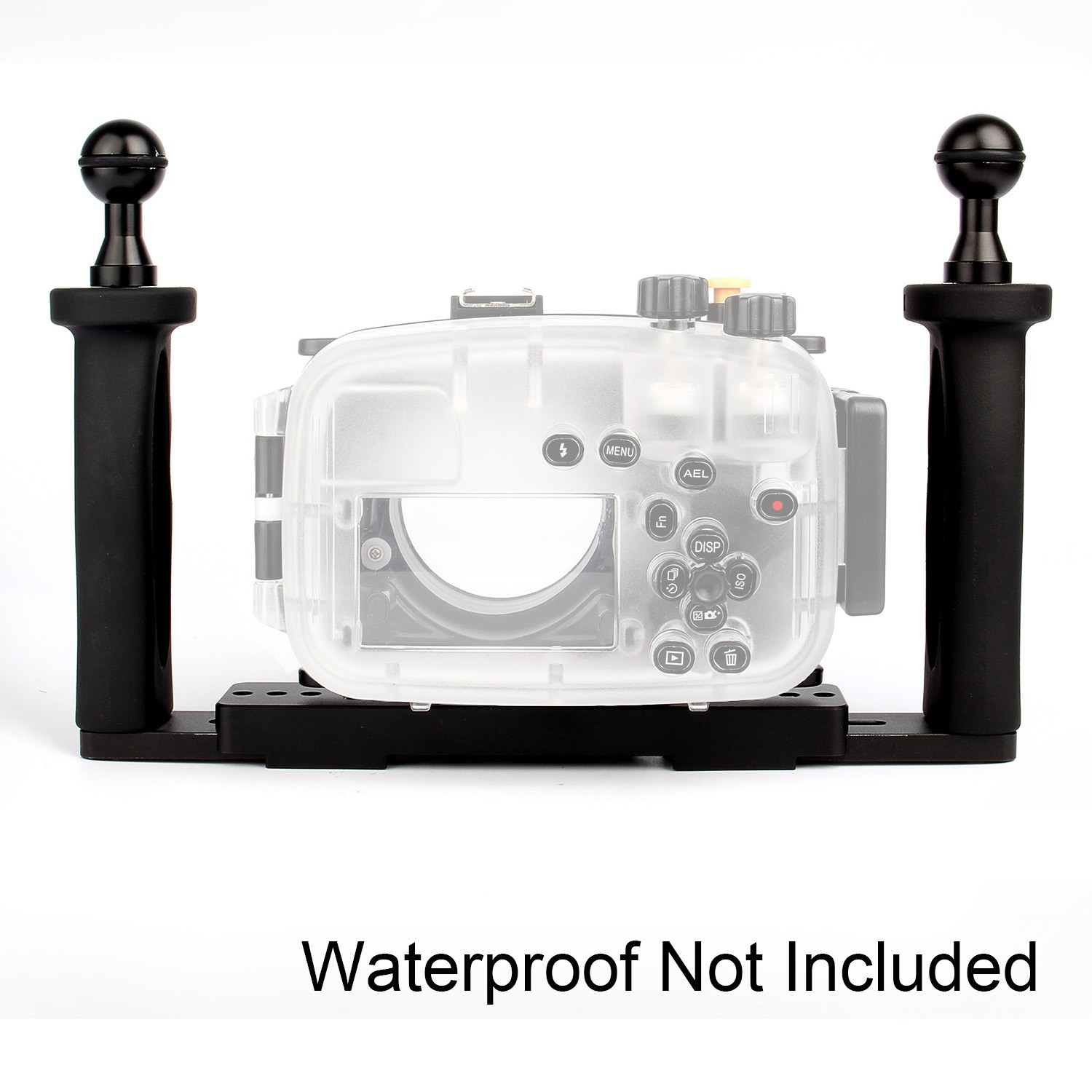 Meikon Two Hands Aluminium Tray for Underwater Camera Housing meikon 40m waterproof underwater camera housing case bag for canon 600d t3i