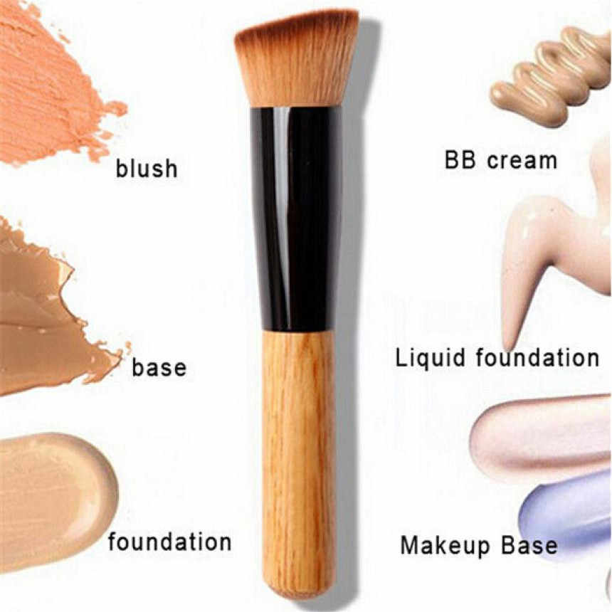 MUQGEW Solid Wood Makeup Brushes Powder Concealer Blush Liquid Foundation Face Make Up Brush Tools Professional Beauty Cosmetics