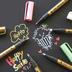 1pc Needle Drawing Metal color craft pen golden and silver paint pen Pen crayon