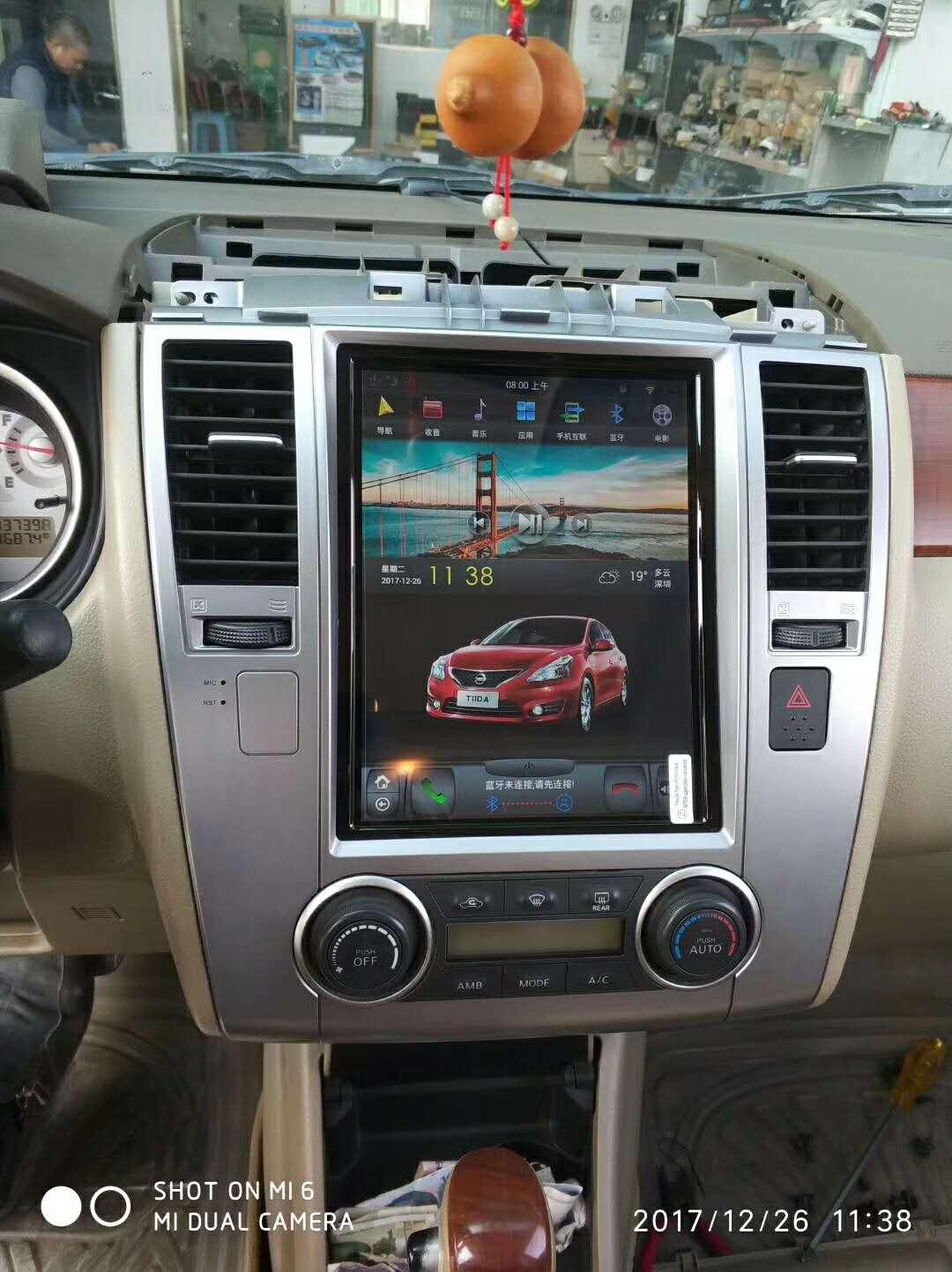 10.4 tesla style vertical screen android 6.0 Quad core Car GPS radio Navigation for Nissan Tiida Latio Versa Dodge Trazo