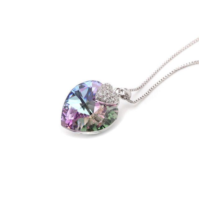 Online shop lepapillion women necklace fine jewelry heart shape lepapillion women necklace fine jewelry heart shape amethyst crystal pendant necklace chain choker necklace jewelry collare gift aloadofball Gallery