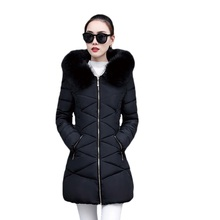Hot! Fashion Winter Jacket Women 2017 New Coat Fur Collar Warm Woman Parka Outerwear Down jacket Parkas size S-XXL