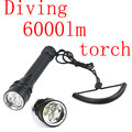 100m Waterproof 6000Lm 3x XML L2 LED Diving Scuba Flashlight Torch free shipping