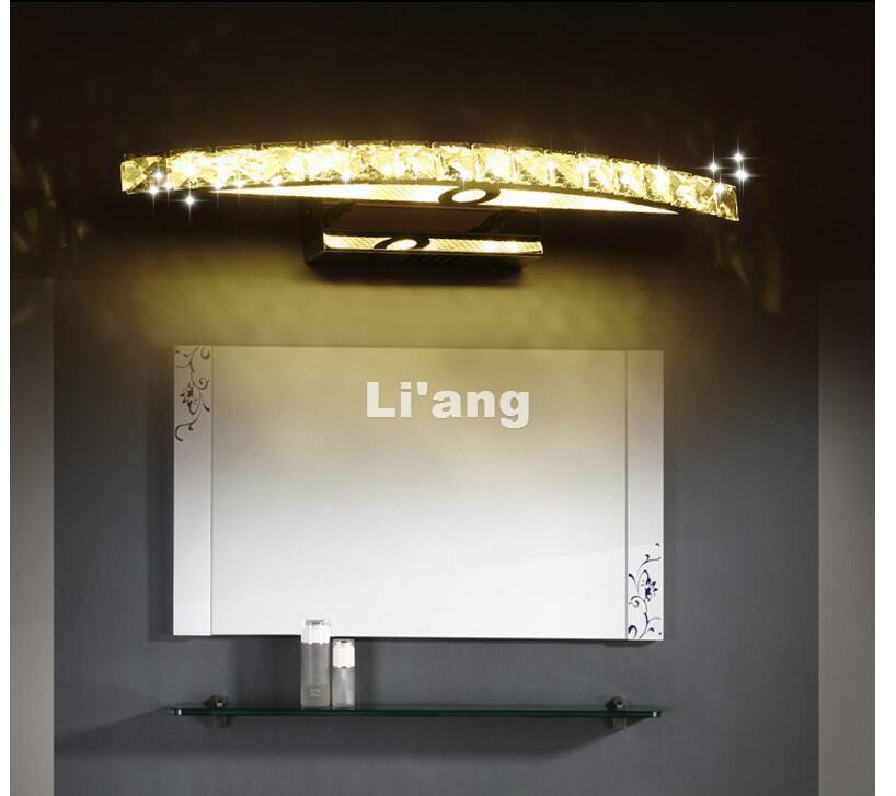 Freies Verschiffen Messing Farbe Spiegel Wand Lampe 110 V