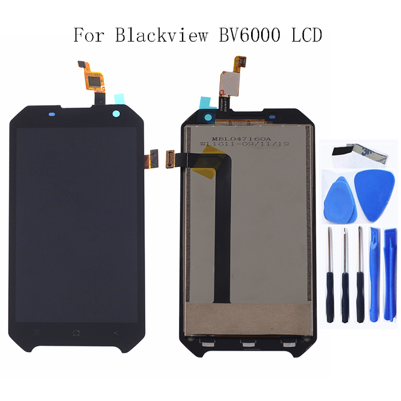 "Image 1 - 4.7 "" Original For Blackview Bv6000 BV6000S LCD Monitor Touch Screen Digitizer Glass Panel Replacement for bv 6000 display-in Mobile Phone LCD Screens from Cellphones & Telecommunications"