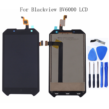 4.7  Original For Blackview Bv6000 BV6000S LCD Monitor Touch Screen Digitizer Glass Panel Replacement for bv 6000 display factory quality ips lcd display 7 85 for supra m847g internal lcd screen monitor panel 1024x768 replacement