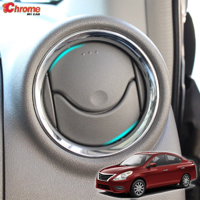For Nissan Versa Almera Latio A/C Air Vent Ring Chrome Cover Trim Car Styling Accessories 2012 2013 2014 2015 2016 2017 2018-in Chromium Styling from Automobiles & Motorcycles