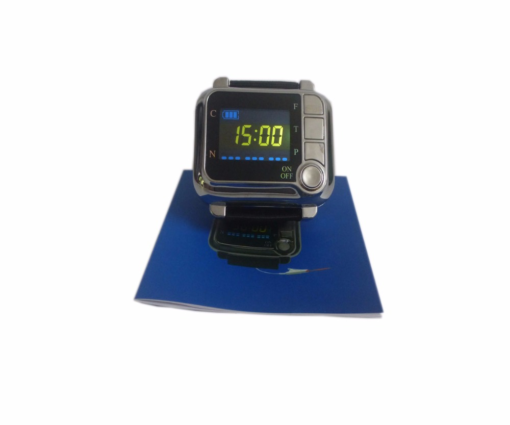 650nm Laser Therapy Watch Home Wrist Diode High Blood Pressure High Blood Fat Sugar for Diabetes Semiconductor Treatment CE Cold blood pressure regulator laser acupuncture laser wrist watch laser treatment therapeutic instrument