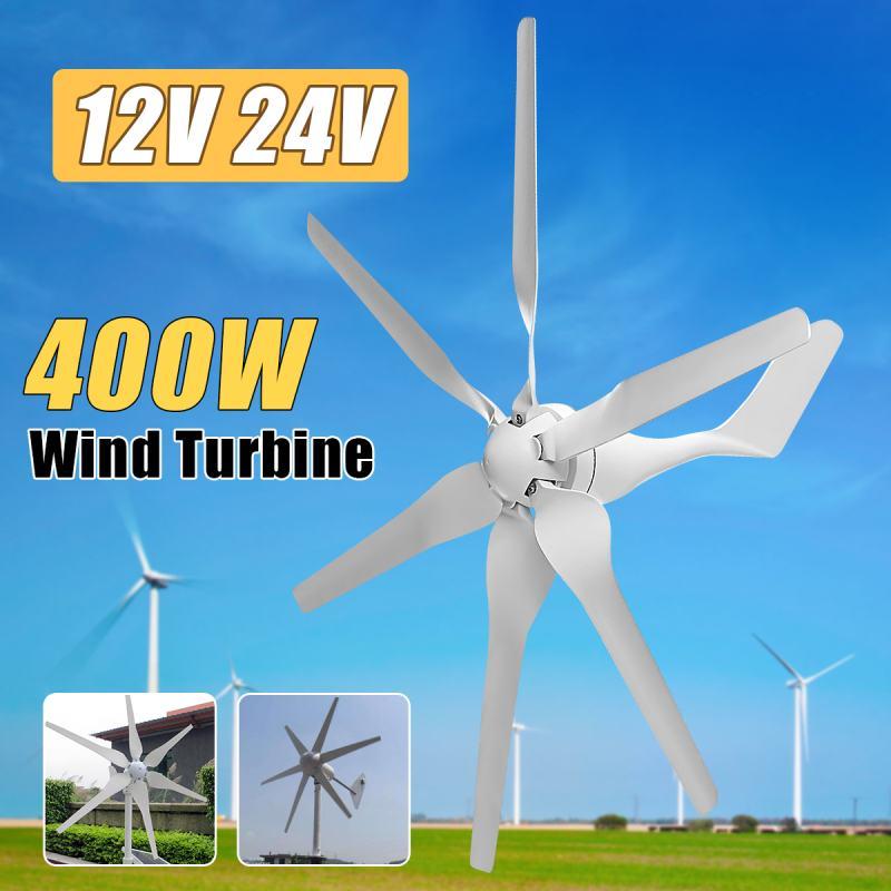 400W 12V 24 Volt 6 Nylon Fiber Blade Horizontal Home Wind Turbines Wind Generator Power Windmill Energy Turbines Charge400W 12V 24 Volt 6 Nylon Fiber Blade Horizontal Home Wind Turbines Wind Generator Power Windmill Energy Turbines Charge