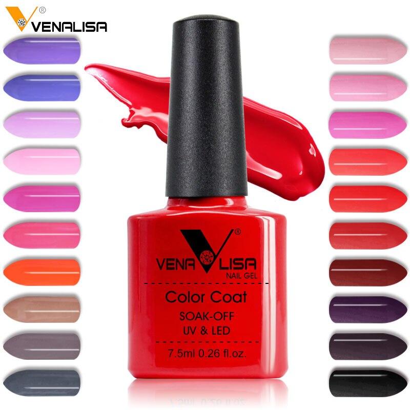 2018 New Free Shipping Nail Art Design Manicure Venalisa 60Color 7 5Ml Soak Off Enamel Gel