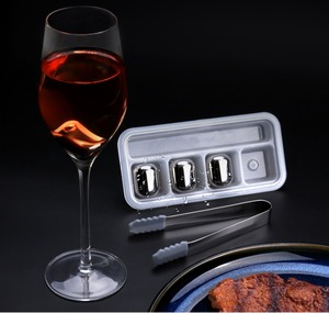 Image 3 - Original Circle Joy Ice cube 304 Stainless Steel Washable Long term use Ice maker for Wine Corks fruit juice