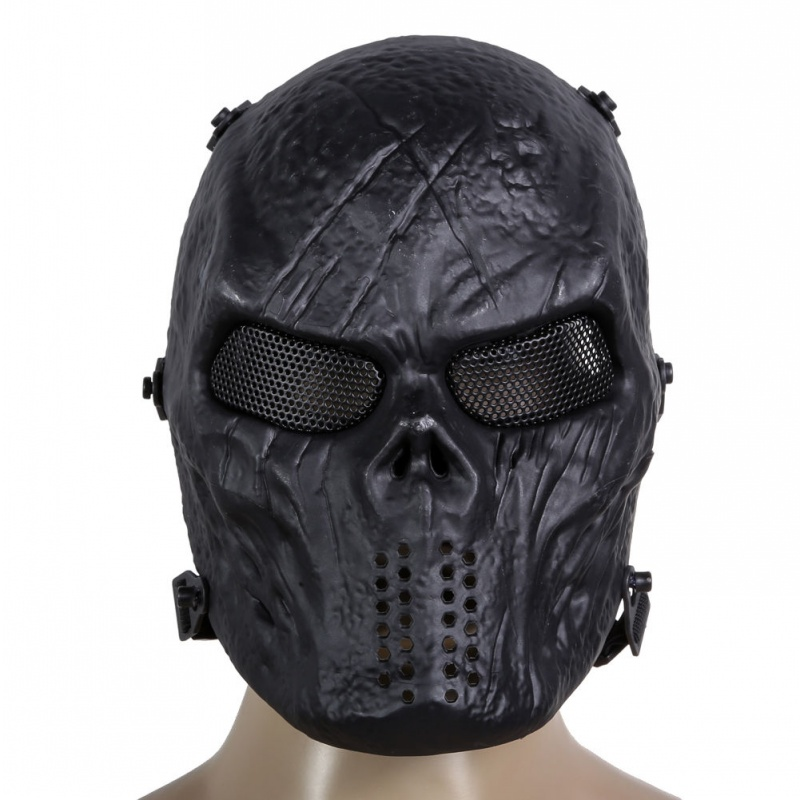 Tactical Skull M06 Black Airsoft Full Face Protective Mask Ghost Military Paintball Outdoor CS Wargame Halloween Cosplay Party