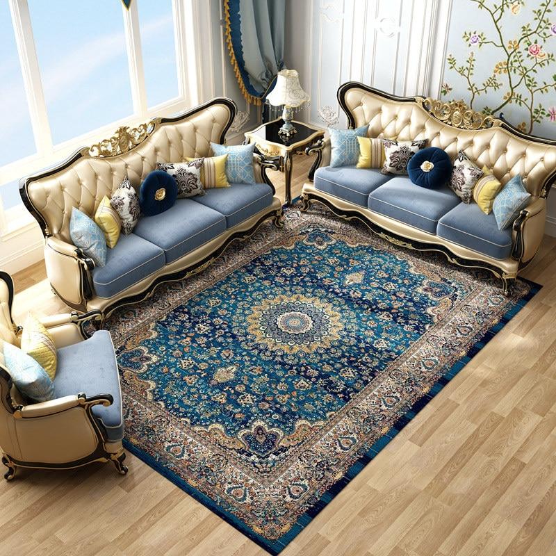 Importado irã persa grande sala de estar tapetes 100% polipropileno casa quarto tapete área tapetes sala estar
