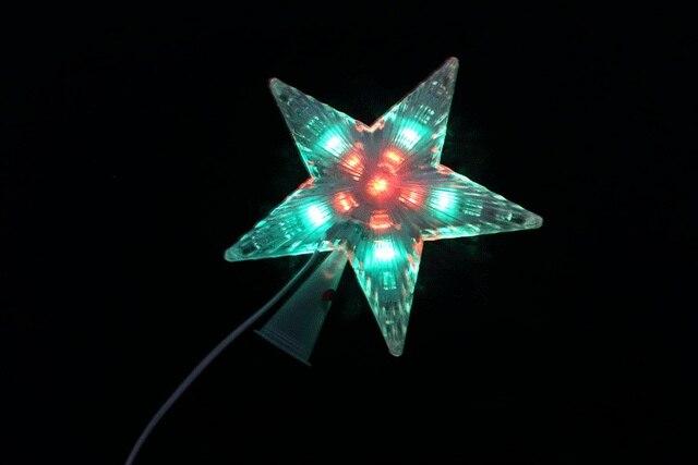 Stella Albero Di Natale Luminosa.Us 4 99 Luminoso Decorazione Stella Di Natale Alberi Pentacolo Stella Top Cinghia Dell Albero Di Natale Di Natale Dress Up In Luminoso Decorazione