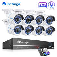 H.265 Security CCTV System 8CH 1080P POE NVR Kit 2.0MP 8PCS Audio Sound CCTV IP Camera P2P IR-Cut Outdoor Video Surveillance Set