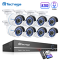 H.265 Sicherheit CCTV System 8CH 1080P POE NVR Kit 2.0MP 8PCS Audio Sound CCTV IP Kamera P2P IR -Cut Outdoor Video Überwachung Set