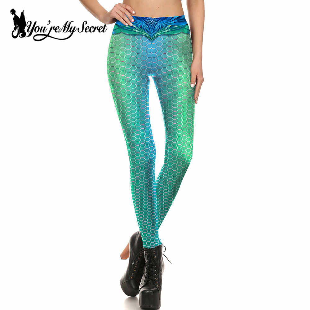 07694e0bc18580 Detail Feedback Questions about [You're My Secret] 2019 Fashion Leggings  Women Fitness Leggins Golden Fish Scale Simulation Mermaid Slim Workout  Mujer Sexy ...