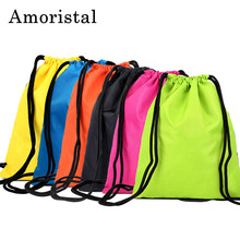 Nylon Drawstring Bag High Quality Men Football Bags Women String Sack Backpack Folding Oxford Waterproof Shopping Bag B336