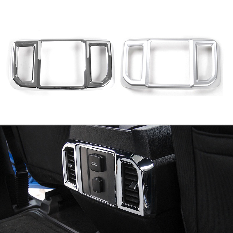 MOPAI ABS Car Interior Rear Air Conditioning Vent Outlet Panel Decoration Cover Stickers For Ford F150 2016 Up Car Styling цена