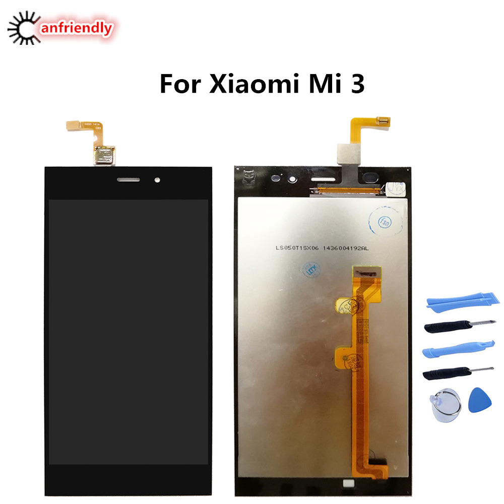 For <font><b>Xiaomi</b></font> <font><b>Mi3</b></font> Mi 3 LCD <font><b>Display</b></font>+Touch panel Screen Replacement Digitizer Assembly Glass with frame 5.0