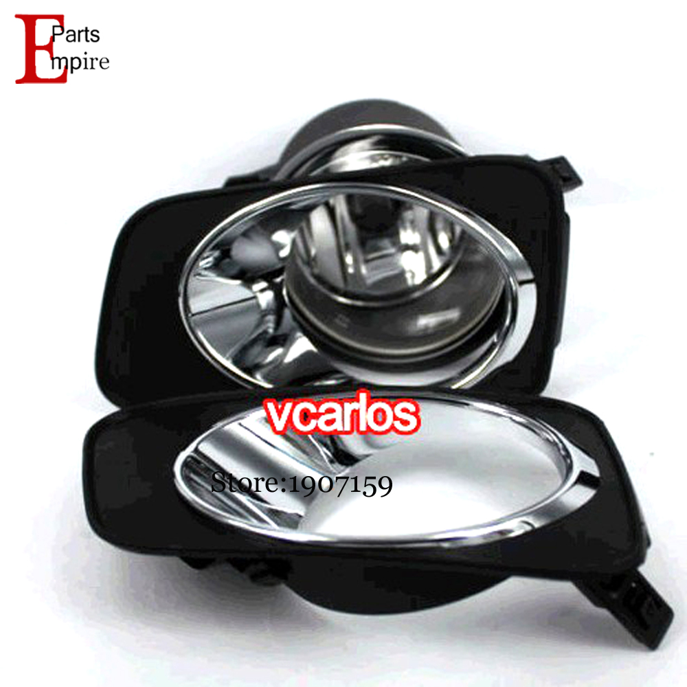 High quality car fog lights lamp for toyota corolla 2010 corolla axio 2007 fielder 2007 clear lens pair wiring kit fog light set in car light assembly from